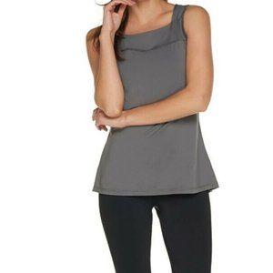 L AnyBody Move Stretch Tank Top Shirt Charcoal